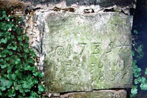 Obenruedener Kotten, Grundstein, Foto: Lisa Demmer
