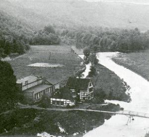 Wupper und Wehrgraben, Obenruedener Kotten, Foto: 1912 (unbekannt)
